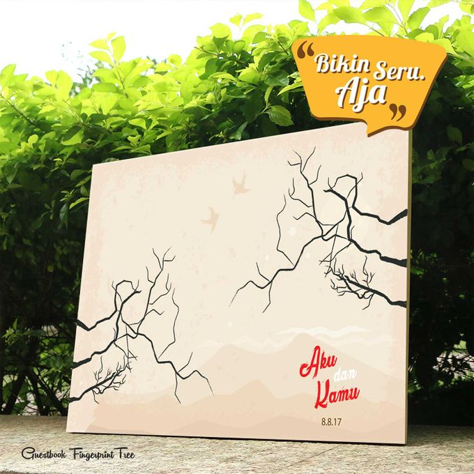 Canvas Guestbook Wedding Artwork - Fingerprint T3 by Bikinseru.aja - 017