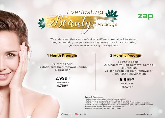 ZAP EVERLASTING BEAUTY PACKAGE by ZAP Clinic - 001