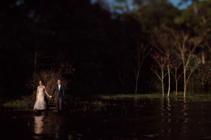 Exquisite Lake & Forest Prewedding of Evita & Benny in Bali by fire, wood & earth - 006