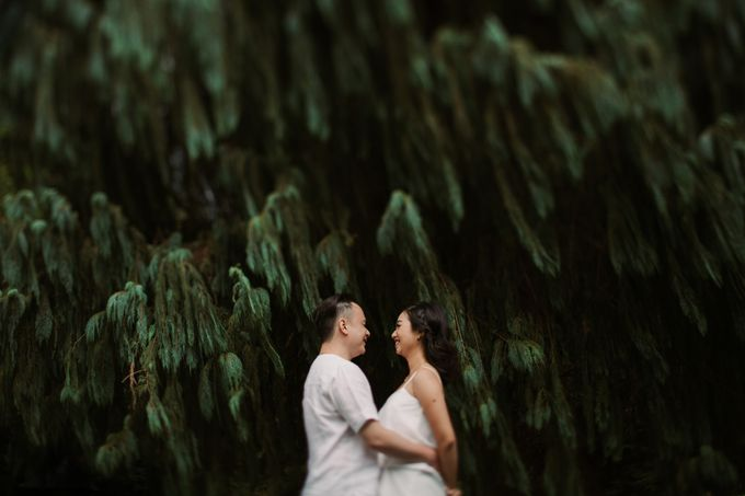 Exquisite Lake & Forest Prewedding of Evita & Benny in Bali by fire, wood & earth - 014