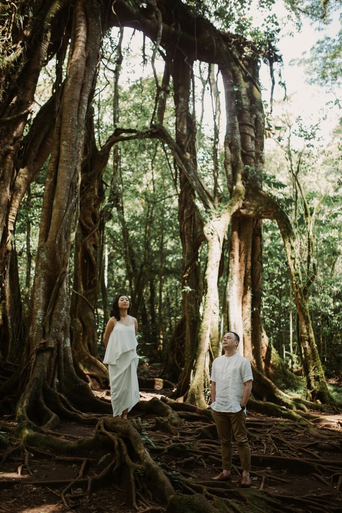 Exquisite Lake & Forest Prewedding of Evita & Benny in Bali by fire, wood & earth - 020