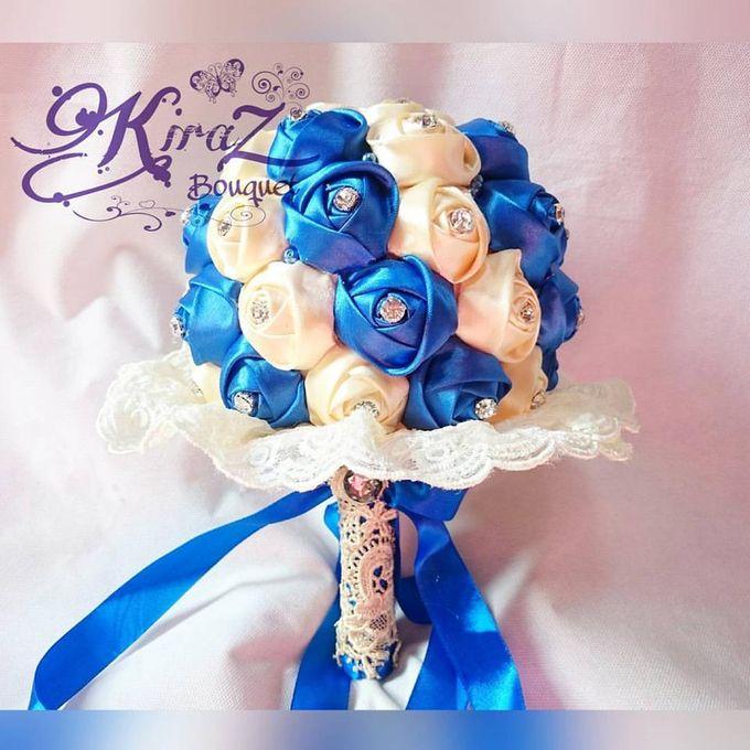 aphrodite diamond medium bridal bouquet handmade by Kiraz Bouquet - 001