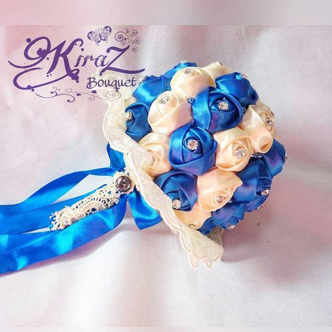 aphrodite diamond medium bridal bouquet handmade by Kiraz Bouquet - 002