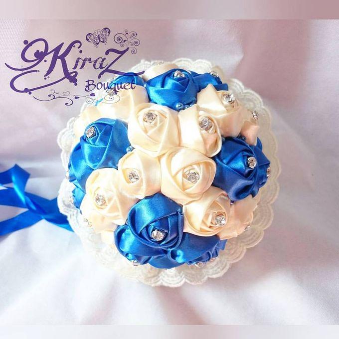 aphrodite diamond medium bridal bouquet handmade by Kiraz Bouquet - 003