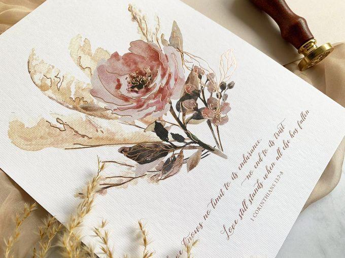Romantic Bouquet by Trouvaille Invitation - 001