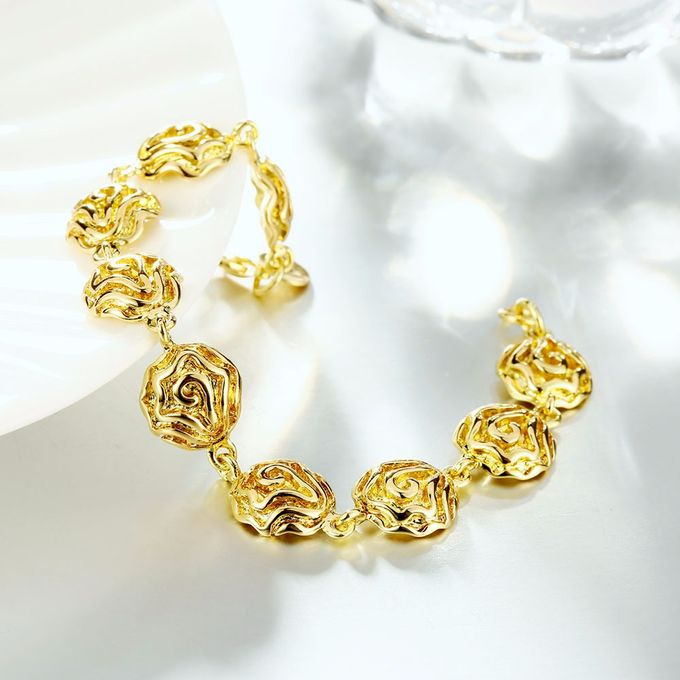 TIARIA Rose Shaped Gold Bracelet Perhiasan Gelang Emas by TIARIA - 005