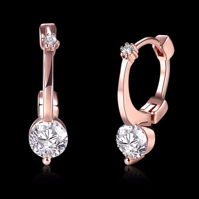 TIARIA Diamond Simple & Chic Gold Earring Perhiasan Anting Emas Berlian by TIARIA - 005