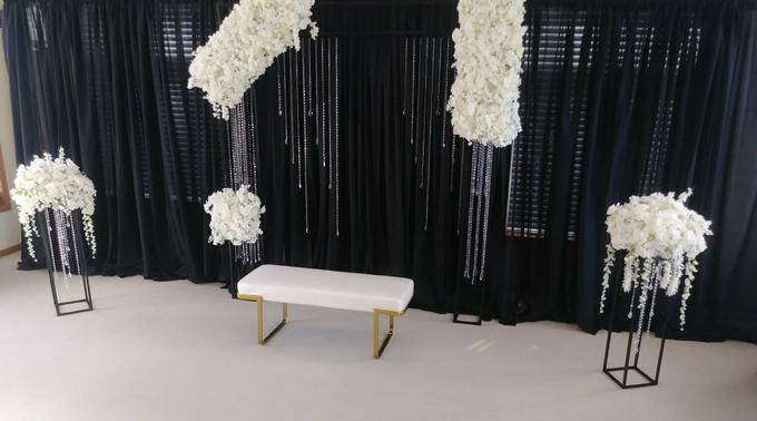 Engagement party backdrop by Fairytale Unique Decor - 001
