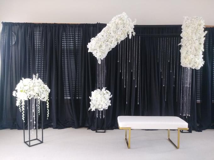 Engagement party backdrop by Fairytale Unique Decor - 002