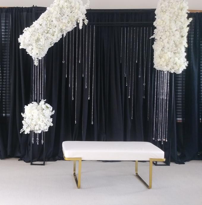 Engagement party backdrop by Fairytale Unique Decor - 003