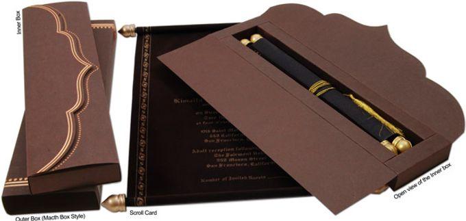 scroll wedding invitations by a2zweddingcards bridestory com
