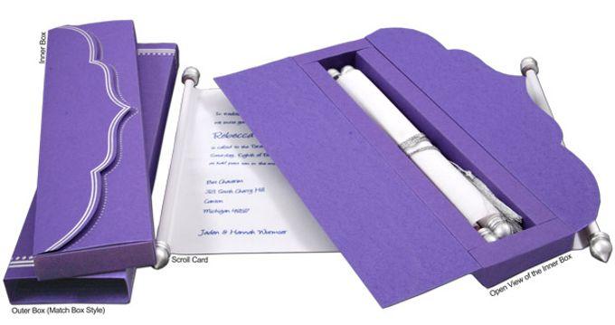 Scroll Wedding Invitations by A2zWeddingcards - 005