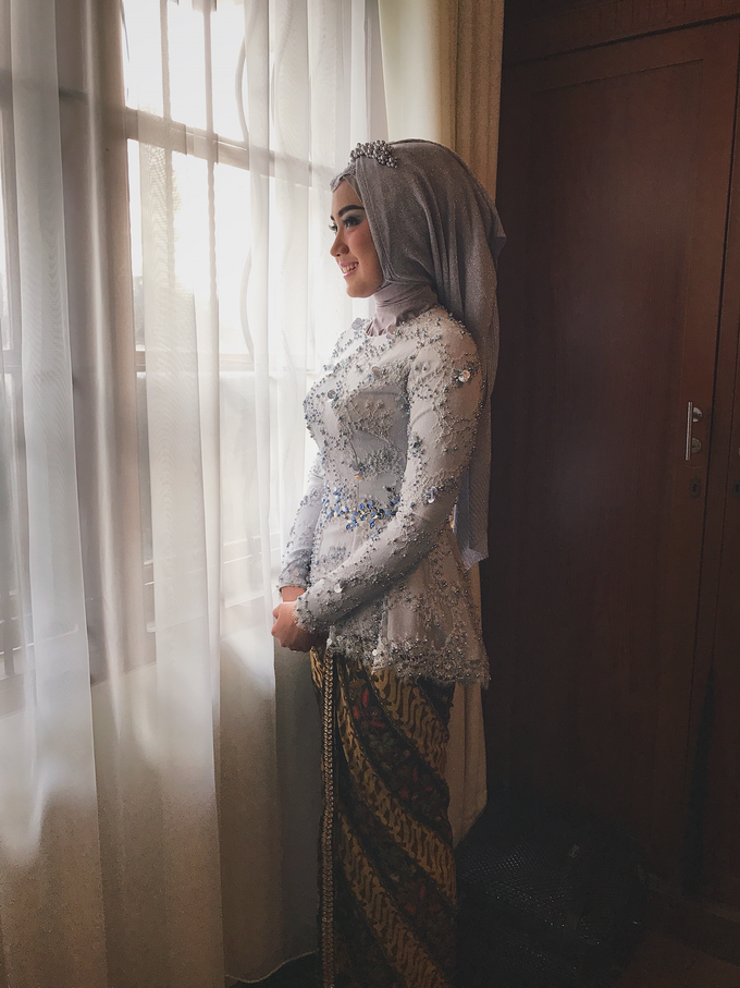 Dusty blue and Silver Kebaya  by FANNY KARTIKA - 002