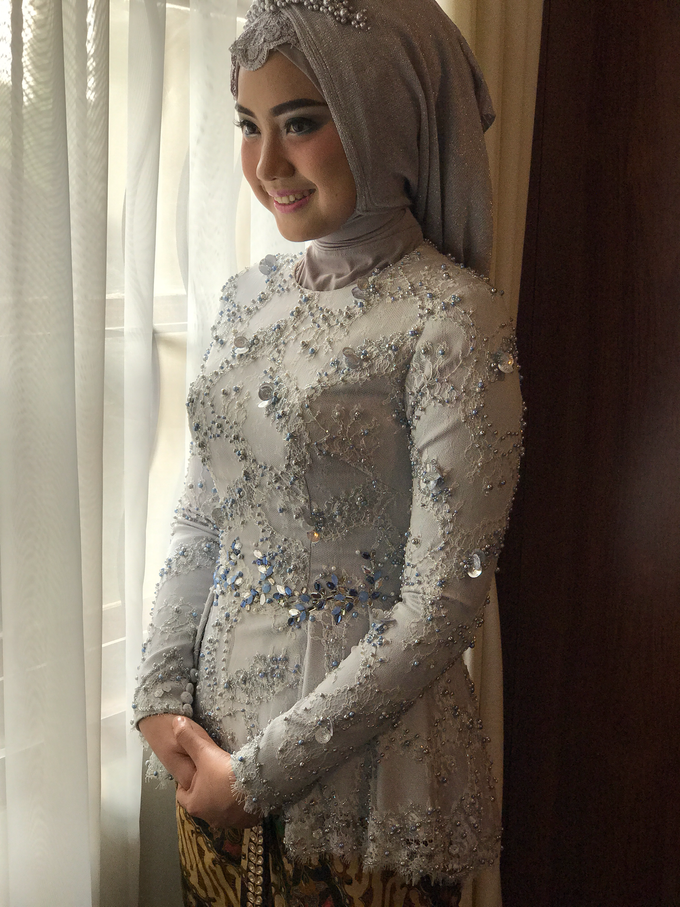 Dusty blue and Silver Kebaya  by FANNY KARTIKA - 001