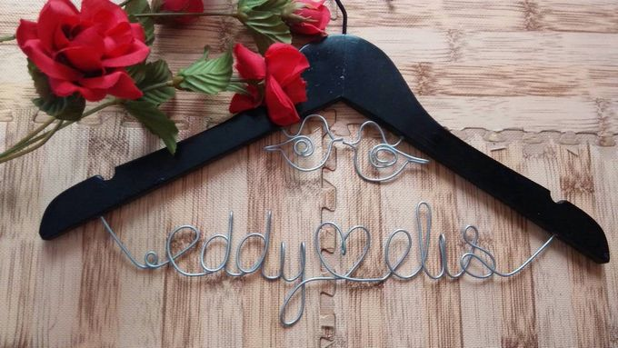 Wedding Hangers with Lovebird Add-On! by Béllicimo Personalized Hanger & Favors - 001