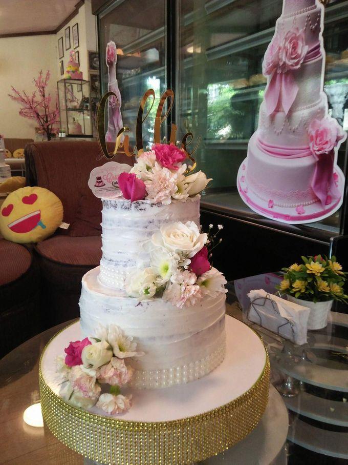 Customized Wedding Naked Cake Rustic Themed Cake by Crumbs Cake Art Bakeshop - 015