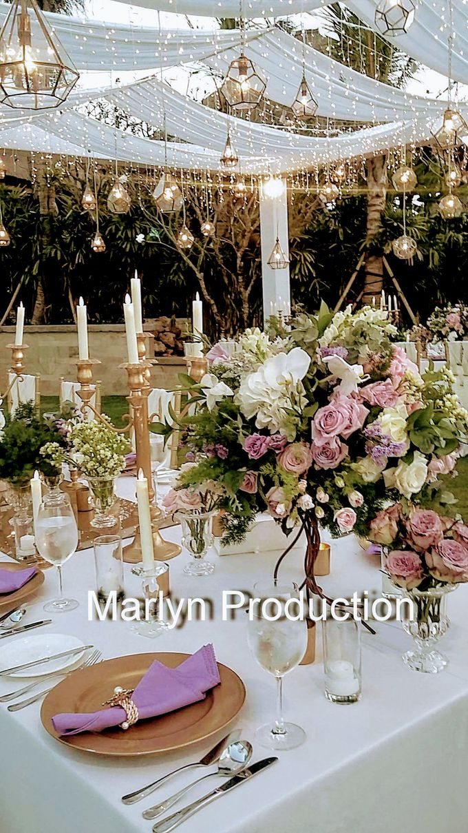 Tresna Lawn Wedding Dinner Reception by Marlyn Production - 007