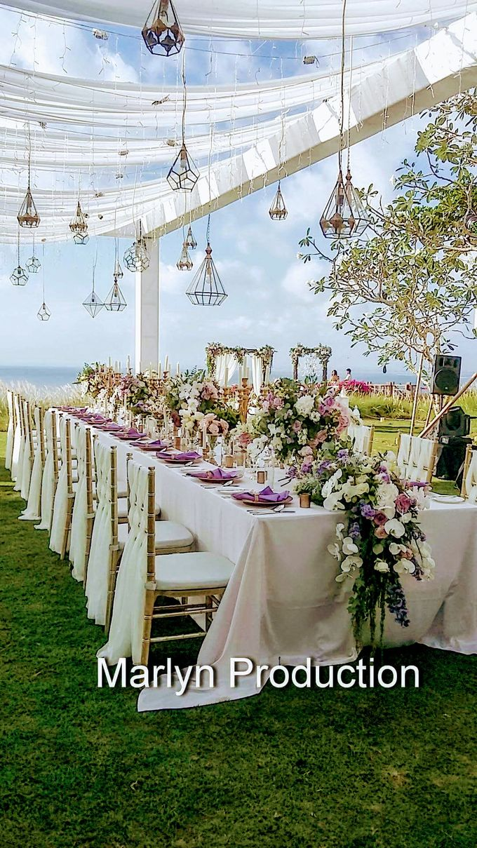 Tresna Lawn Wedding Dinner Reception by Marlyn Production - 009