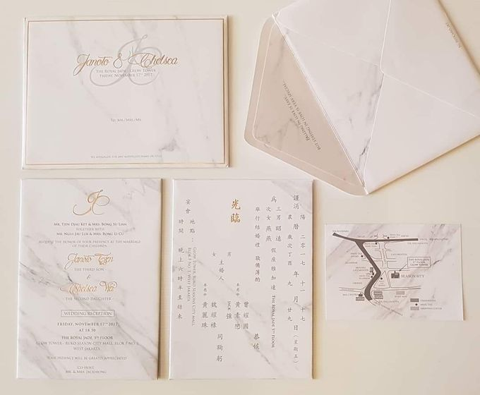 Marble Invitations by Red Card - 001