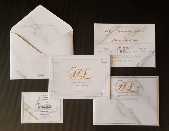Marble Invitations by Red Card - 002