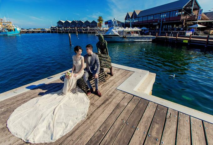Perth Destination Pre-Wedding Photoshoot by Angel Chua Lay Keng Makeup and Hair - 028