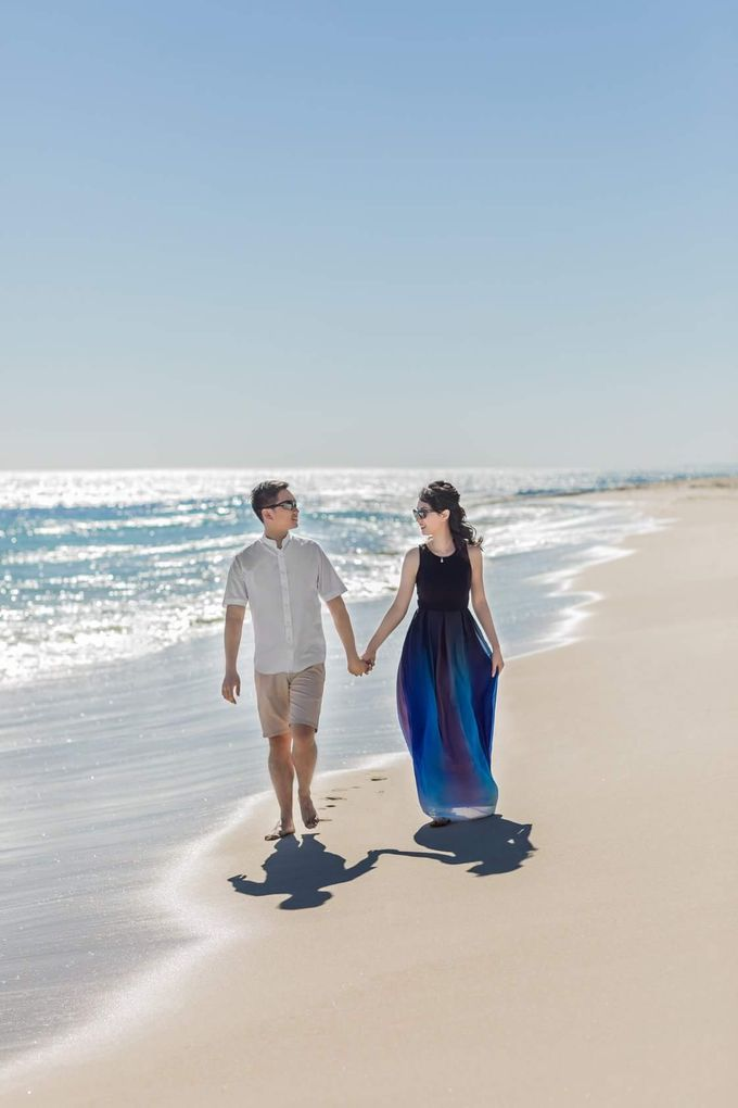 Perth Destination Pre-Wedding Photoshoot by Angel Chua Lay Keng Makeup and Hair - 022