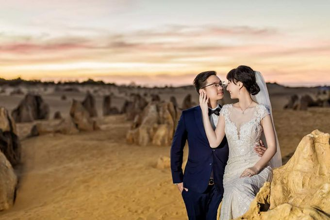 Perth Destination Pre-Wedding Photoshoot by Angel Chua Lay Keng Makeup and Hair - 014