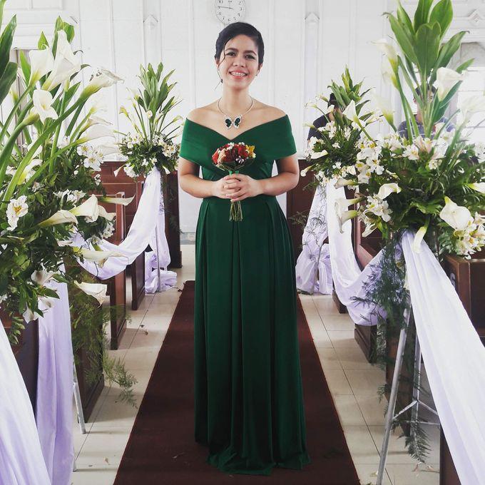Made-to-Measure Emerald Bridesmaid Dress by Belle en Blanc Bespoke Bridal - 001