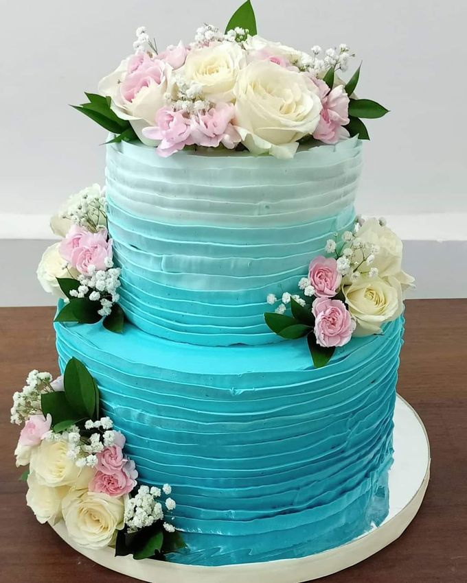 Wedding Cake Served at  Fantasy Wedding Chapel by Henny Cookies and Cakes, Bali - 001