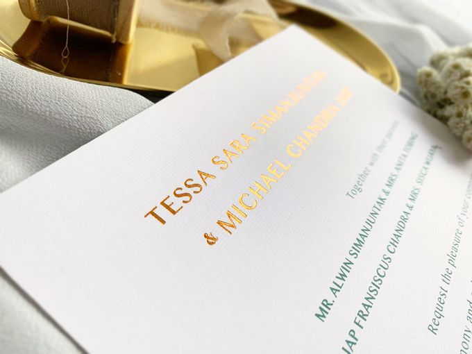 Modern Minimalist Tropical by Trouvaille Invitation - 010