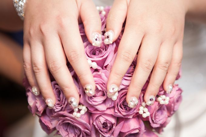 3D Nail art for wedding day by Luz Bello 3D Nail Art-Extension - 043