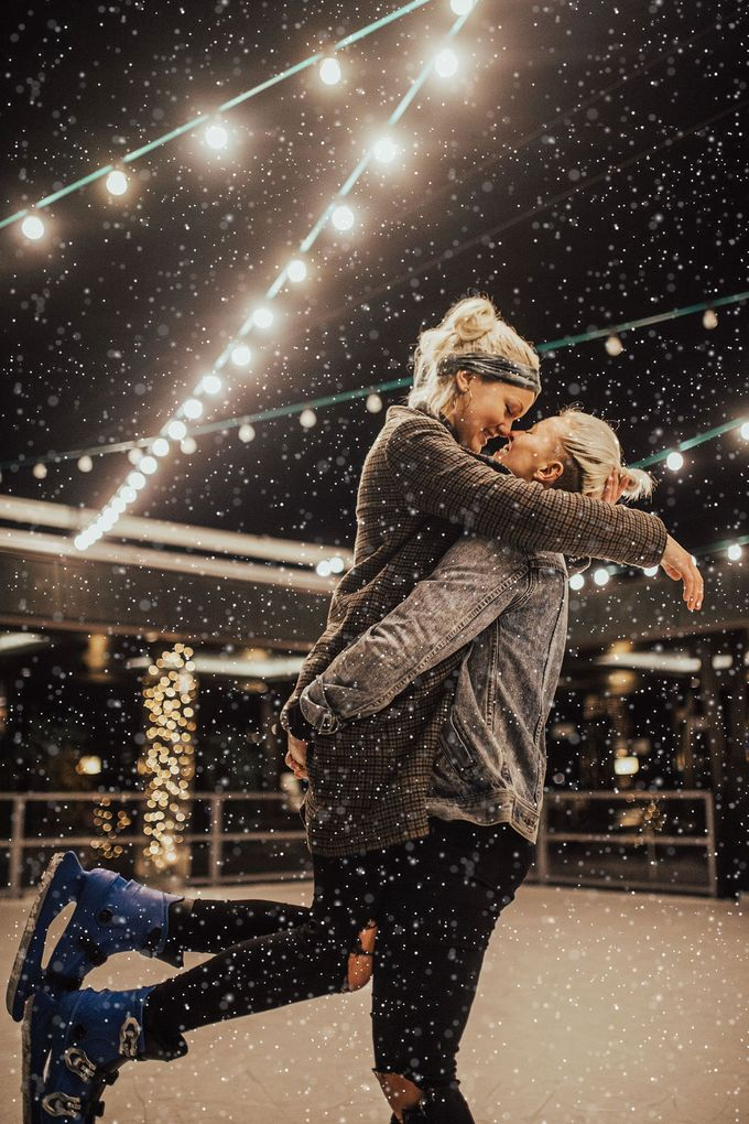 Female couple Winter Lake Bled proposal by Wedding Lake Bled - 002