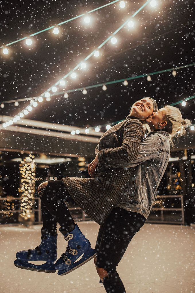 Female couple Winter Lake Bled proposal by Wedding Lake Bled - 003