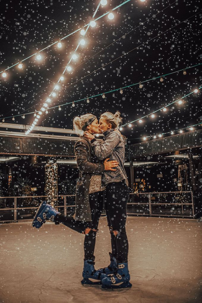 Female couple Winter Lake Bled proposal by Wedding Lake Bled - 004