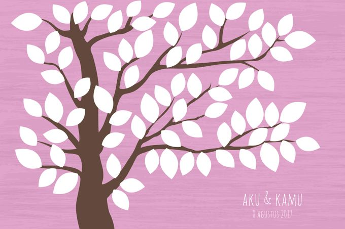 Canvas Guestbook Wedding Artwork ( Tree-01) by Bikinseru.aja - 005