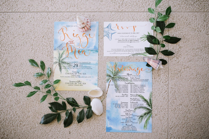 Watercolor and Calligraphy Wedding Invitations by First of April - 016