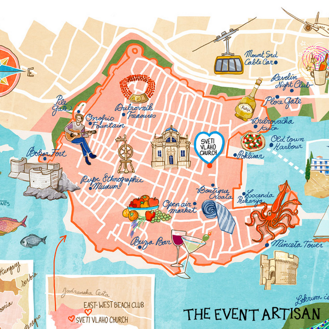 Customised map for your wedding  by The Event Artisan - 002