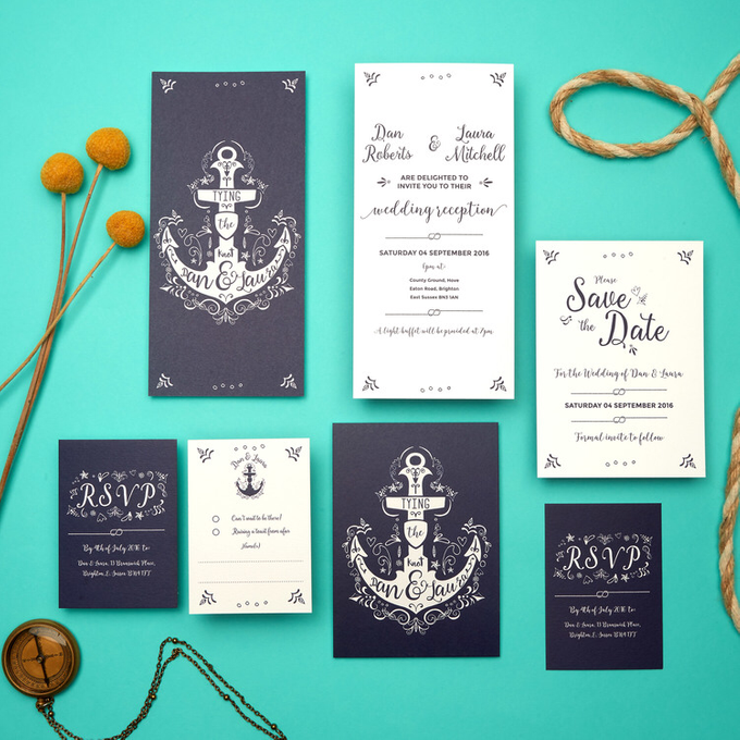 Nautical template design by Vicky Perry Wedding Stationery - 005