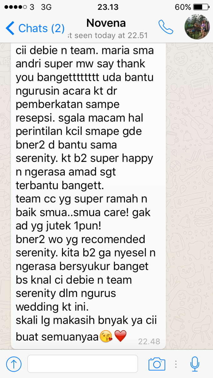 Testimoni from our Lovely Groom n Bride  by Serenity wedding organizer - 009