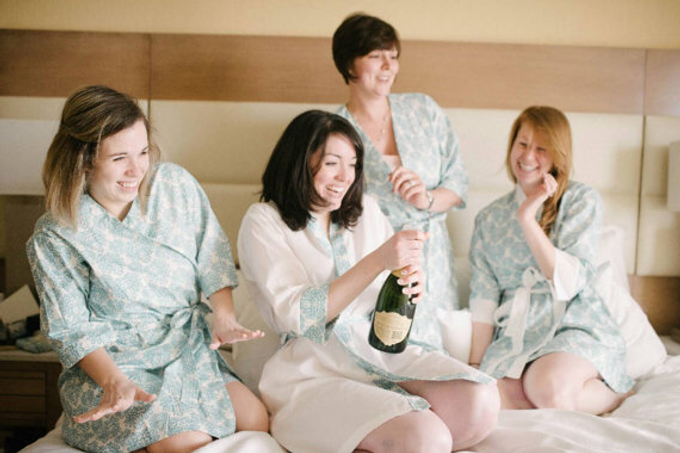 Bridesmaids Robes by Modern Kimono - 016