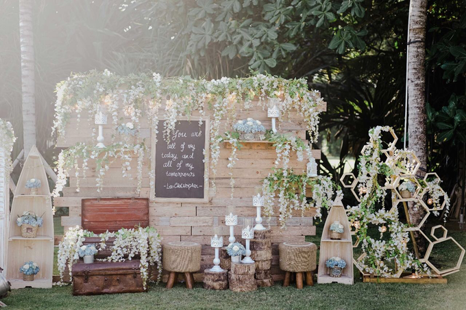 Dusty blue in romantic rustic by Bali Signature - 010