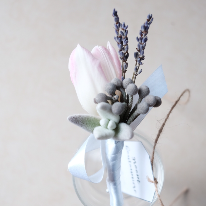 Rustic Succulent Boutonniere by Floral Theory - 005