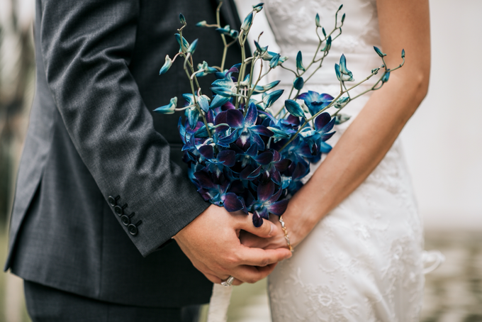 Blue Orchids by Liz Florals - 002