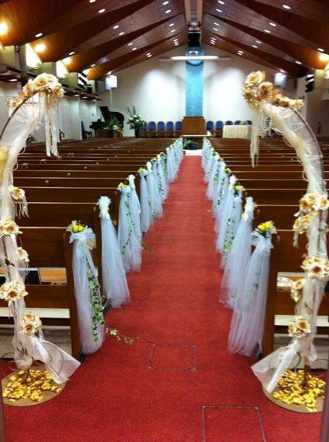 Simple church wedding setup by ilmare Wedding - 001