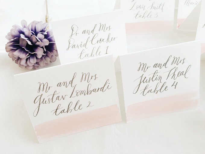 Place Cards by Meilifluous Calligraphy & Design - 001