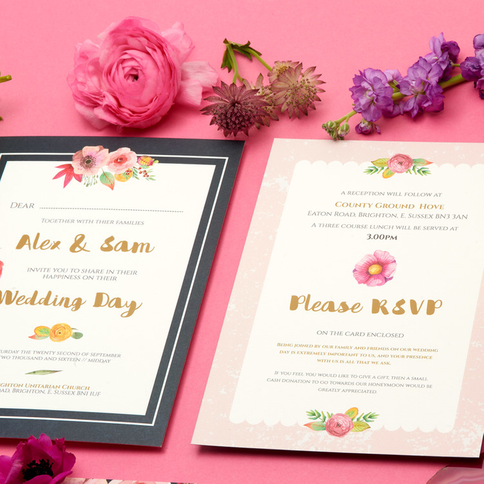 Blooms template design by Vicky Perry Wedding Stationery - 010