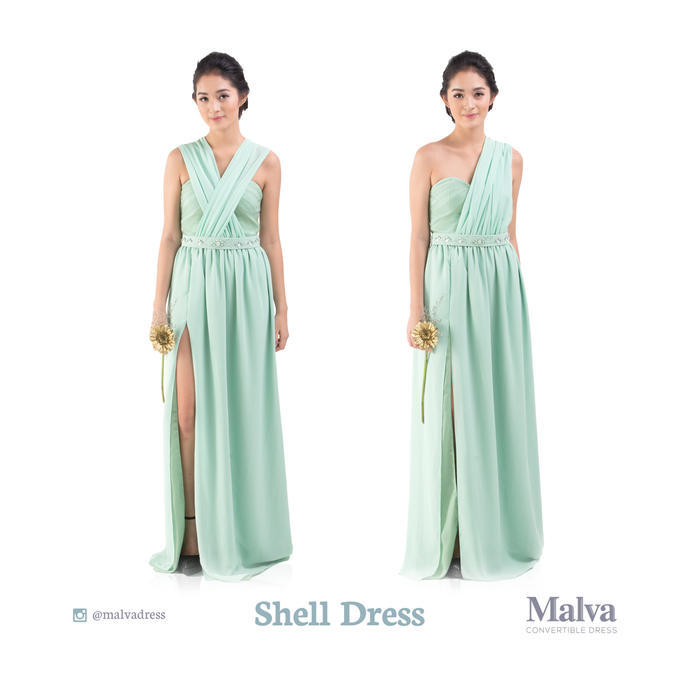 Shell Dress by MALVA Bridesmaids - 012