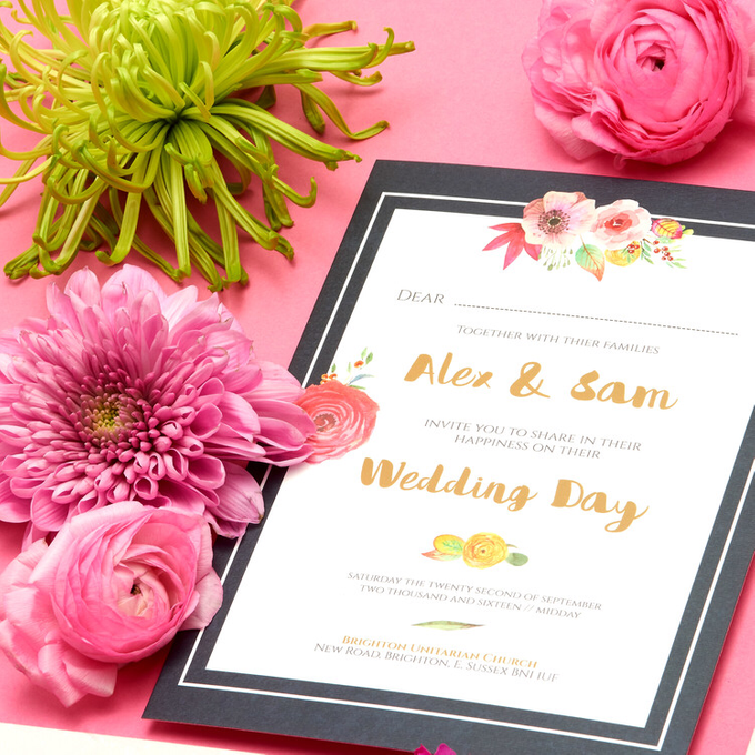 Blooms template design by Vicky Perry Wedding Stationery - 008