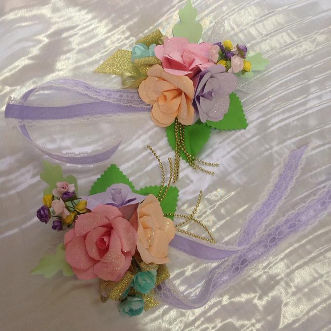 Pastel Handcrafted Entourage Bouquets by Duane's Fleur Creatif - 021