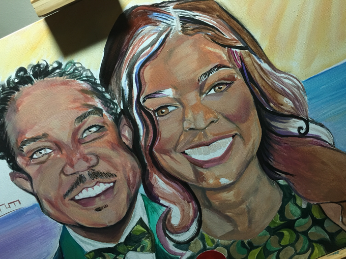 Custom Couple Art by Amber R Taylor Live Art - 005